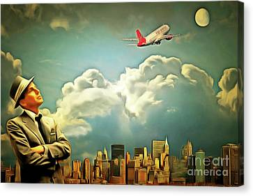Frank Sinatra Fly Me To The Moon 20170506 Canvas Print by Wingsdomain Art and Photography