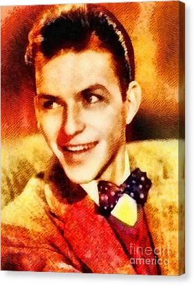 Frank Sinatra Canvas Print - Frank Sinatra, Hollywood Legend By John Springfield by John Springfield