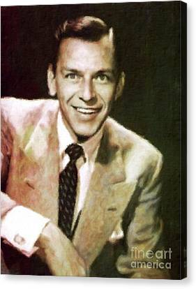 Frank Sinatra Canvas Print - Frank Sinatra, Hollywood Legend By Mary Bassett by Mary Bassett