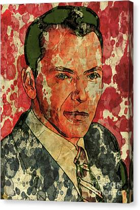 Frank Sinatra Hollywood Singer And Actor Canvas Print by Mary Bassett