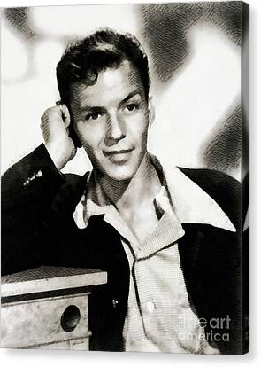 Frank Sinatra Canvas Print - Frank Sinatra, Legend by John Springfield