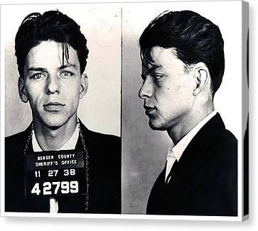 Frank Sinatra Mug Shot Horizontal Canvas Print