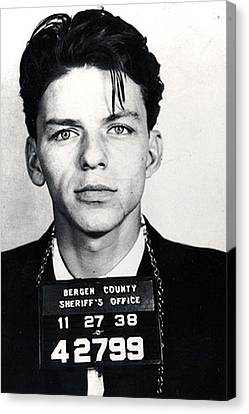 Decorate Canvas Print - Frank Sinatra Mug Shot Vertical by Tony Rubino