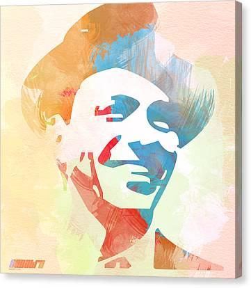 Frank Sinatra Canvas Print by Naxart Studio