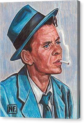 Old Blue Eyes Canvas Print - Frank Sinatra  by Neil Feigeles