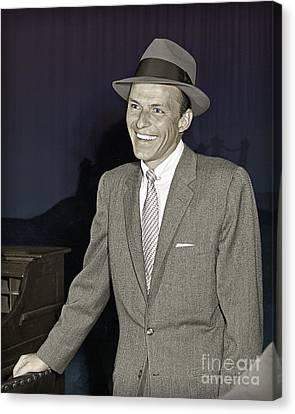 Frank Sinatra On Set Canvas Print