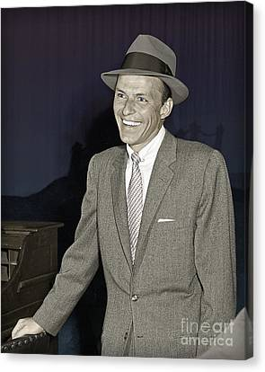 Frank Sinatra On Set Canvas Print by Martin Konopacki Restoration