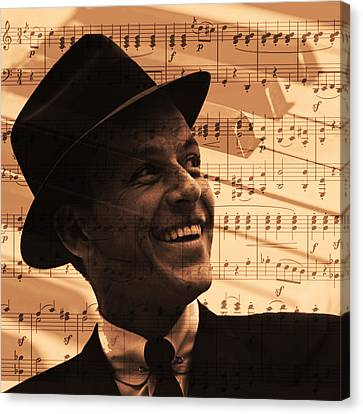 Frank Sinatra  Canvas Print by Valentina Hramov