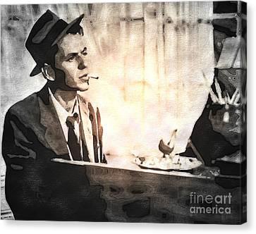 Frank Sinatra - Vintage Painting Canvas Print
