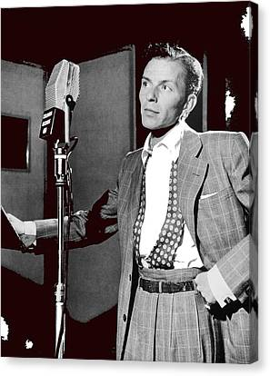 Frank Sinatra William Gottlieb Photo Liederkranz Hall New York City 1947-2015 Canvas Print by David Lee Guss