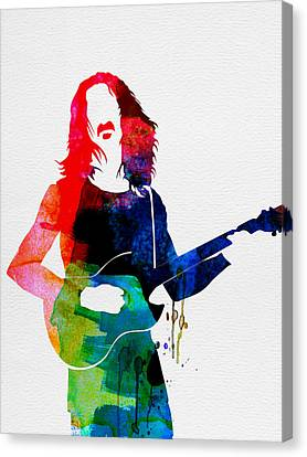 Frank Watercolor Canvas Print by Naxart Studio