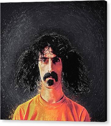 Frank Zappa Canvas Print by Taylan Apukovska