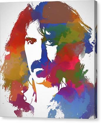 Alternative Music Canvas Print - Frank Zappa Watercolor by Dan Sproul