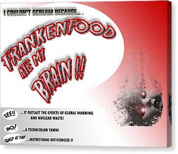 Canvas Print featuring the photograph Frankenfood by Christopher Woods