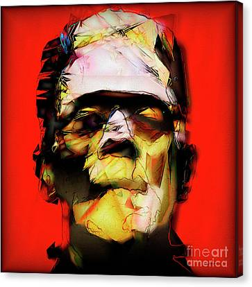 Horror Movies Canvas Print - Frankenstein 20170325 V3 Square by Wingsdomain Art and Photography
