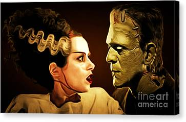 Frankenstein And The Bride I Have Love In Me The Likes Of Which You Can Scarcely Imagine 20170407 Canvas Print