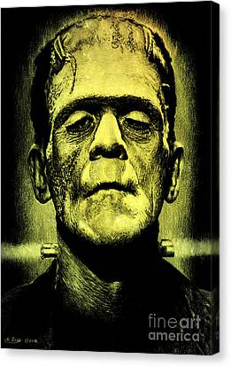Frankenstein Green Glow Version Canvas Print