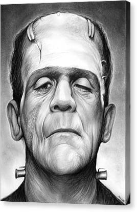Frankenstein Canvas Print by Greg Joens