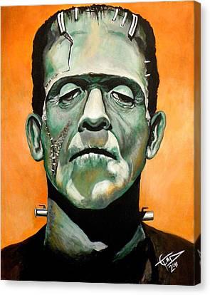 Frankenstein Canvas Print by Tom Carlton