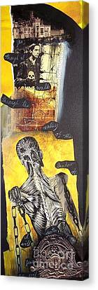 Chained Canvas Print - Frankenstein by Xoey HAWK