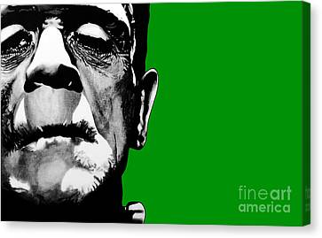 Frankenstein's Monster Signed Prints Available At Laartwork.com Coupon Code Kodak Canvas Print by Leon Jimenez