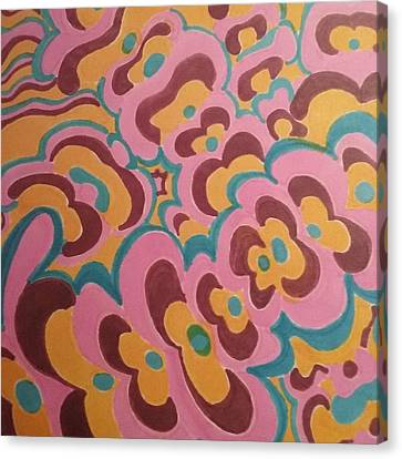 Frankesque Canvas Print by Modern Metro Patterns and Textiles