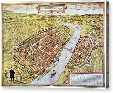 Frankfurt, Germany, 1572 Canvas Print by Granger