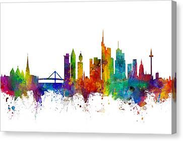 Frankfurt Germany Skyline Canvas Print by Michael Tompsett