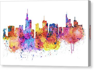 Frankfurt Skyline Canvas Print by Marian Voicu