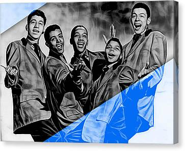 Frankie Lymon And The Teenagers Canvas Print by Marvin Blaine