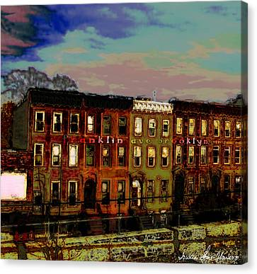 Franklin Ave. Bk Canvas Print by Iowan Stone-Flowers