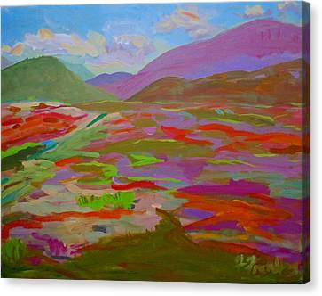 Franklin Blueberry Fields Canvas Print