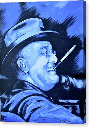 Franklin D. Roosevelt Canvas Print by Victor Minca