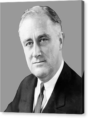 Democrats Canvas Print - Franklin Delano Roosevelt by War Is Hell Store