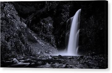 Franklin Canvas Print - Franklin Falls Black And White by Pelo Blanco Photo