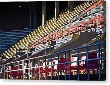 Philadelphia Phillies Canvas Print - Franklin Field - Empty Stands by Bill Cannon