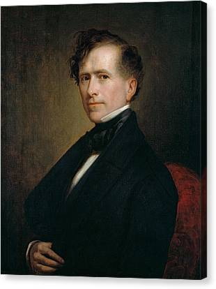 Franklin Pierce Canvas Print by George Peter Alexander Healy