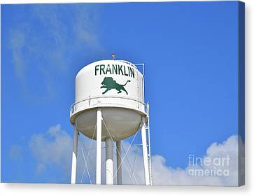 Franklin Texas Water Tower Canvas Print by Ray Shrewsberry