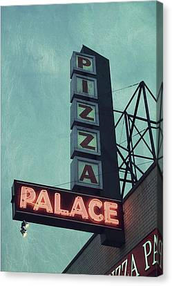 Frank's Pizza Palace Canvas Print by Joel Witmeyer