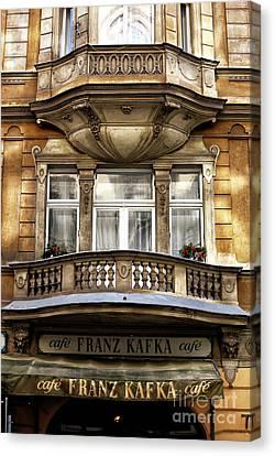 Franz Kafka Cafe Canvas Print