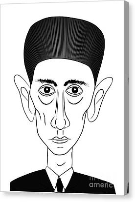 Franz Kafka Canvas Print by Michal Boubin