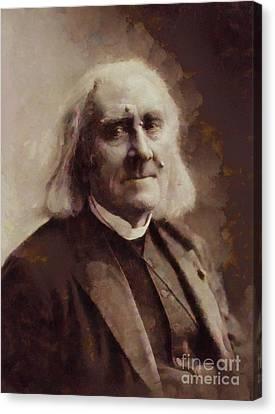Franz Liszt, Composer By Sarah Kirk Canvas Print