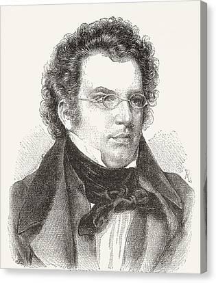 Schubert Canvas Print - Franz Peter Schubert, 1797 by Vintage Design Pics