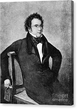 Franz Peter Schubert, Austrian Composer Canvas Print by Omikron