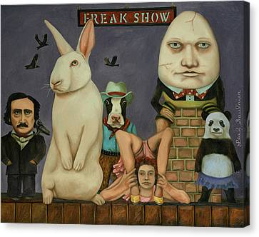 Canvas Print featuring the painting Freak Show by Leah Saulnier The Painting Maniac