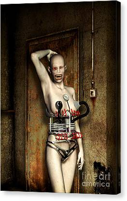 Freaks - The First Girl In The Basment Canvas Print by Luca Oleastri