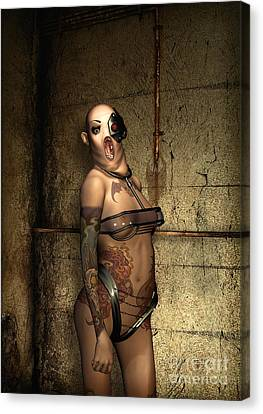 Freaks - The Second Girl In The Basment Canvas Print by Luca Oleastri