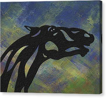 Canvas Print featuring the painting Fred - Abstract Horse by Manuel Sueess