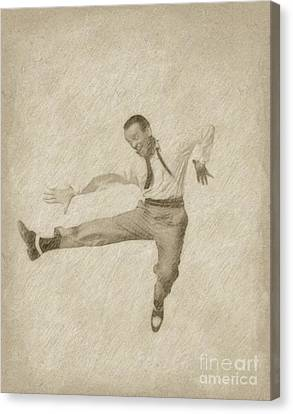 Fred Astaire Hollywood Legend Canvas Print by Frank Falcon