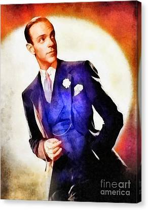 Fred Astaire, Vintage Hollywood Legend Canvas Print by Frank Falcon